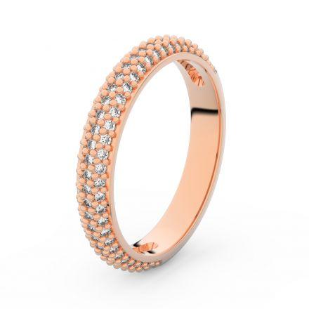 Zlatý dámský prsten DF 3911 z růžového zlata, s briliantem