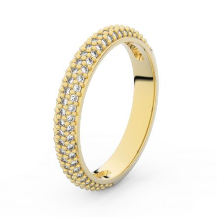 Zlatý dámský prsten DF 3911 ze žlutého zlata, s briliantem