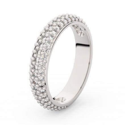 Zlatý dámský prsten DF 3912 z bílého zlata, s briliantem