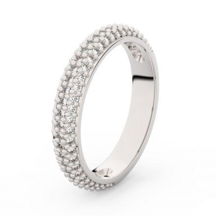 Zlatý dámský prsten DF 3918 z bílého zlata, s briliantem