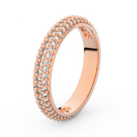 Zlatý dámský prsten DF 3918 z růžového zlata, s briliantem