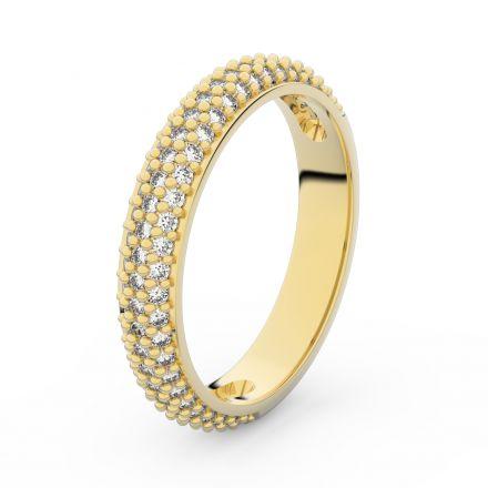 Zlatý dámský prsten DF 3918 ze žlutého zlata, s briliantem