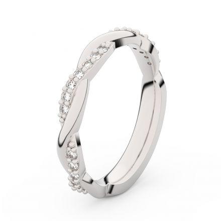 Zlatý dámský prsten DF 3952 z bílého zlata, s briliantem