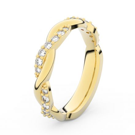 Zlatý dámský prsten DF 3953 ze žlutého zlata, s briliantem