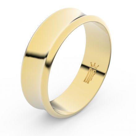 Zlatý snubní prsten FMR 5B70 ze žlutého zlata, bez kamene