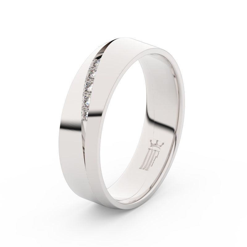 Snubni Prsteny Z Bileho Zlata S Brilianty Par 3034 Dfprsteny Cz