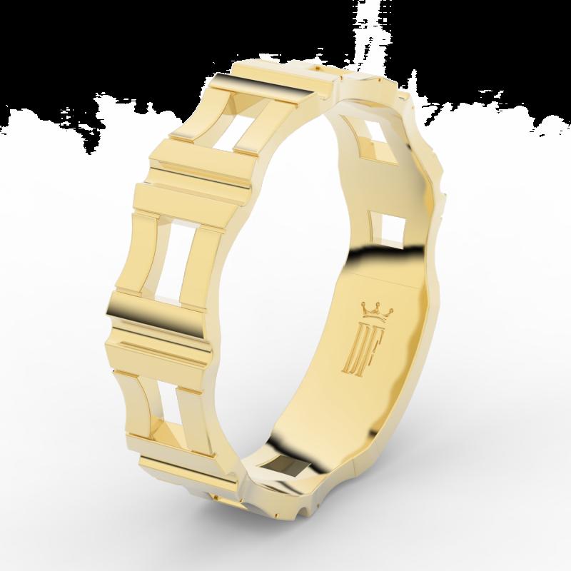 Prsten Danfil DLR3085 žluté zlato 585/1000 bez kamene povrch lesk 60