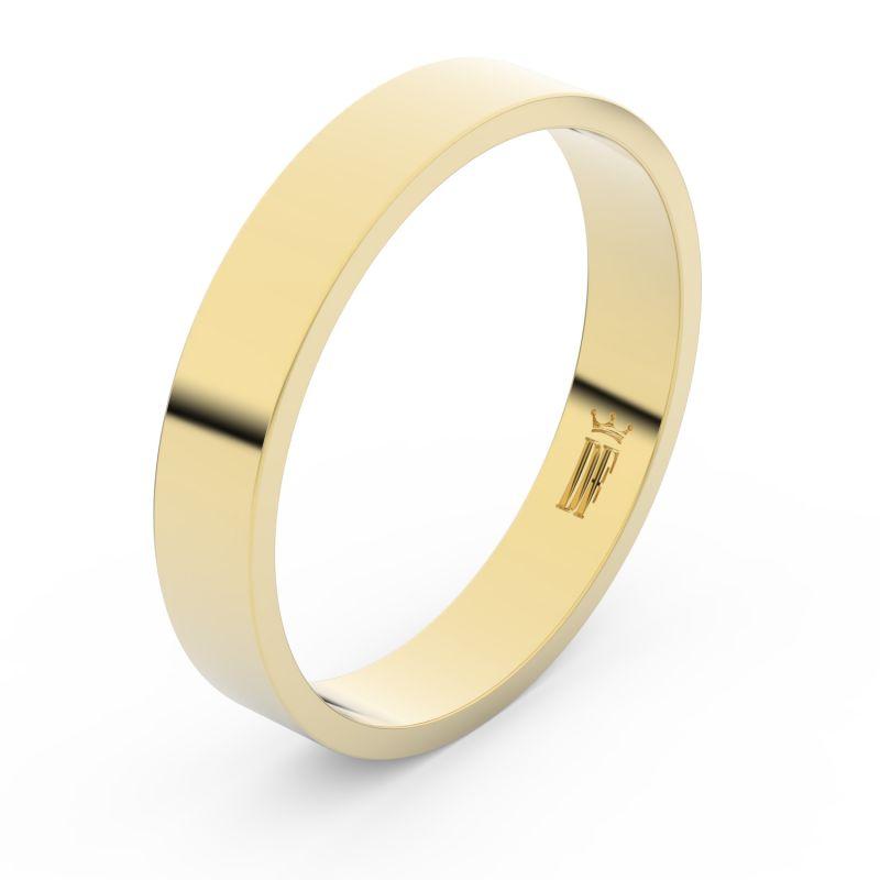 Zlatý snubní prsten Danfil FMR 1G40 ze žlutého zlata, bez kamene 46