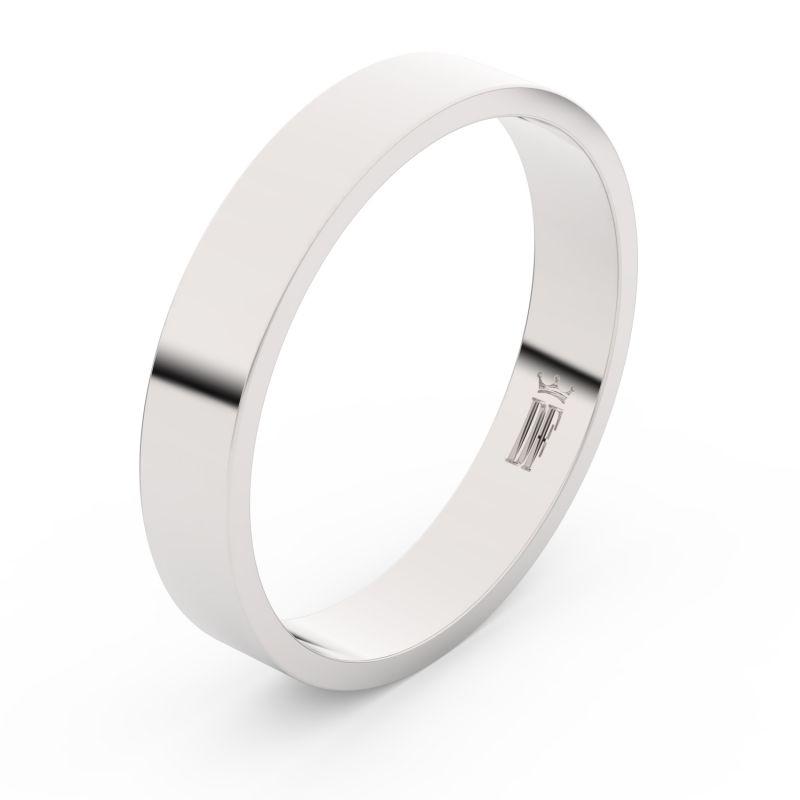 Zlatý snubní prsten Danfil FMR 1G40 z bílého zlata, bez kamene 46