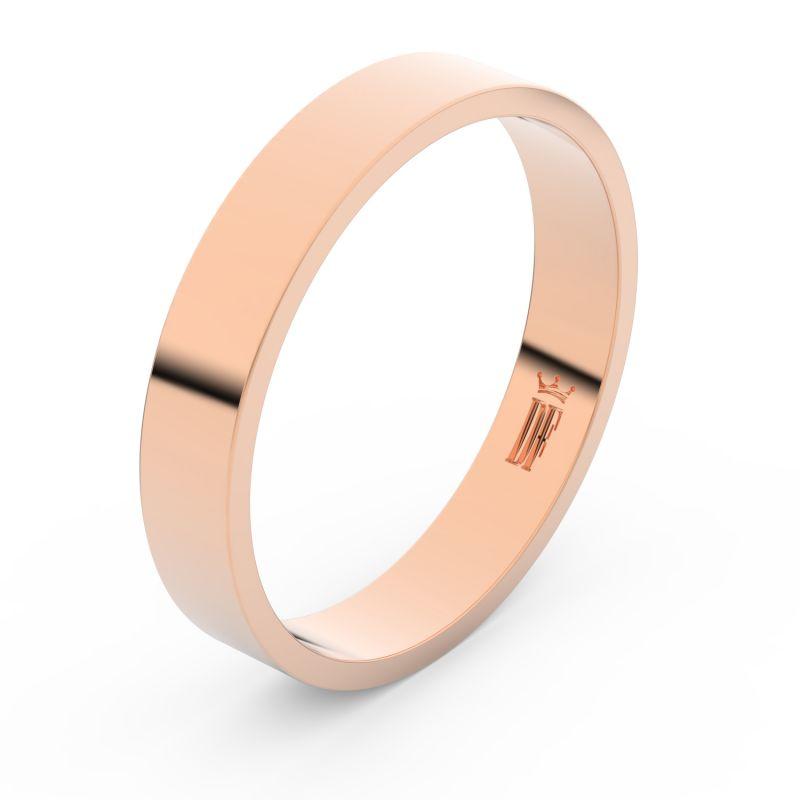Zlatý snubní prsten Danfil FMR 1G40 z růžového zlata, bez kamene 46