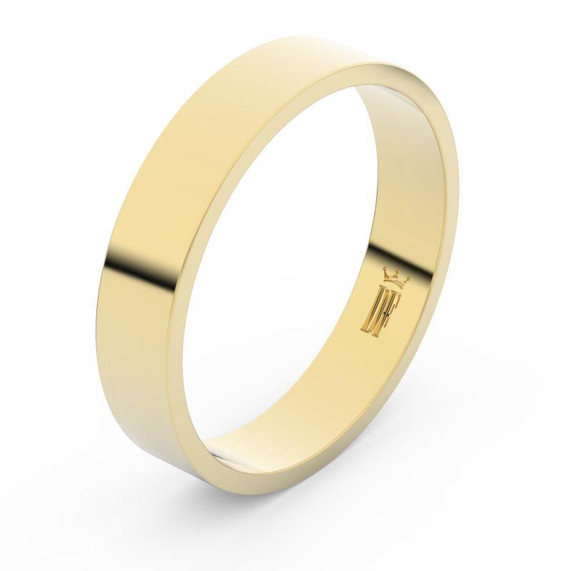 Zlatý snubní prsten Danfil FMR 1G45 ze žlutého zlata, bez kamene 46