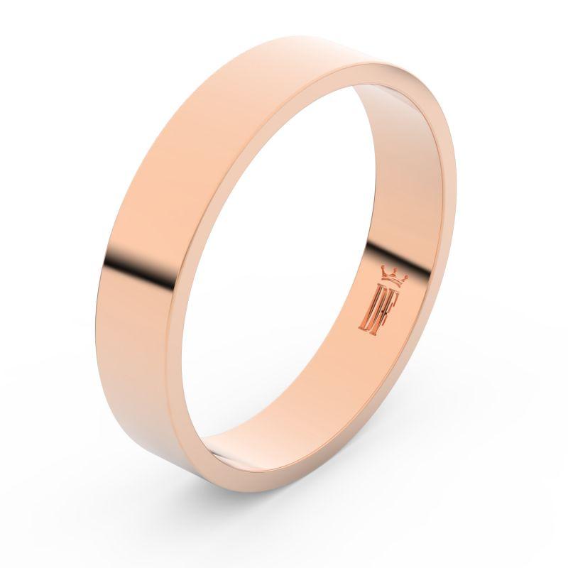 Zlatý snubní prsten Danfil FMR 1G45 z růžového zlata, bez kamene 46