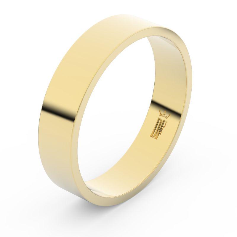 Zlatý snubní prsten Danfil FMR 1G50 ze žlutého zlata, bez kamene 46