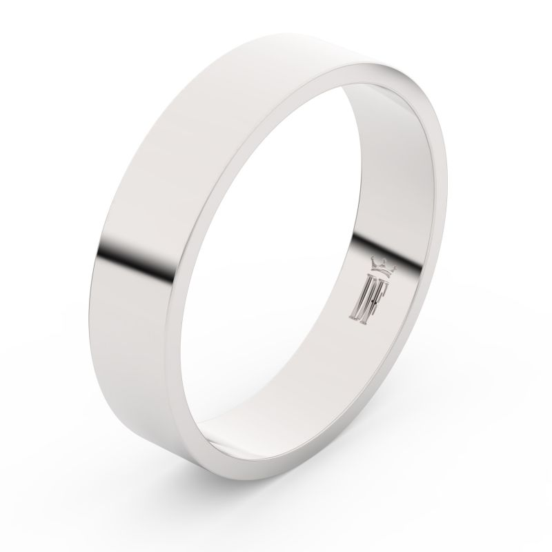Zlatý snubní prsten Danfil FMR 1G50 z bílého zlata, bez kamene 46