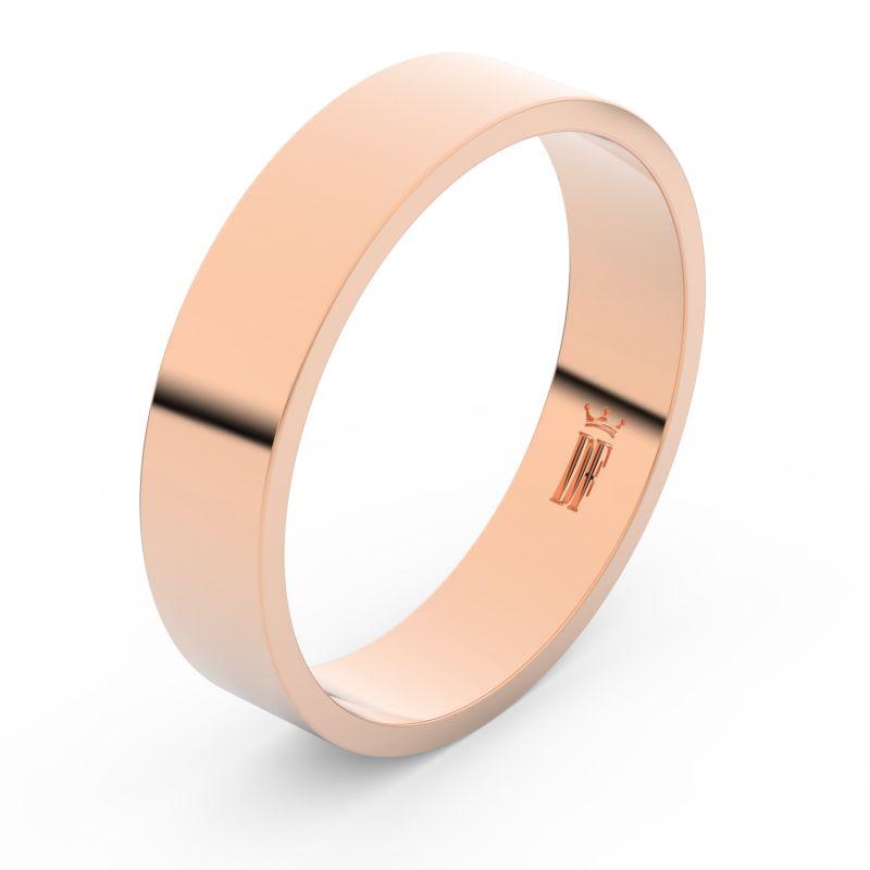 Zlatý snubní prsten Danfil FMR 1G50 z růžového zlata, bez kamene 46