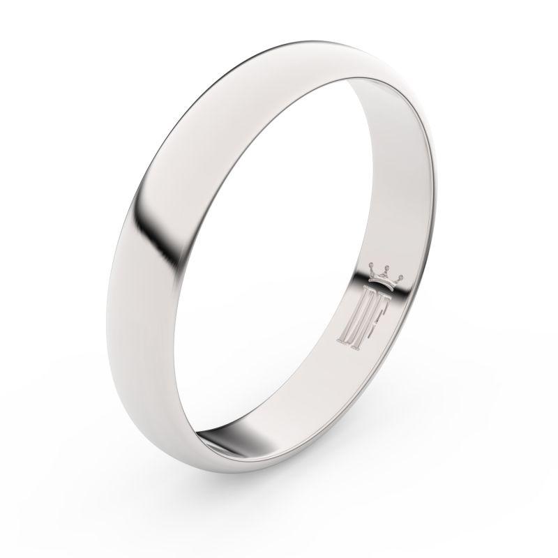 Zlatý snubní prsten Danfil FMR 2C40 z bílého zlata, bez kamene 46