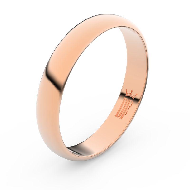 Zlatý snubní prsten Danfil FMR 2C40 z růžového zlata, bez kamene 46