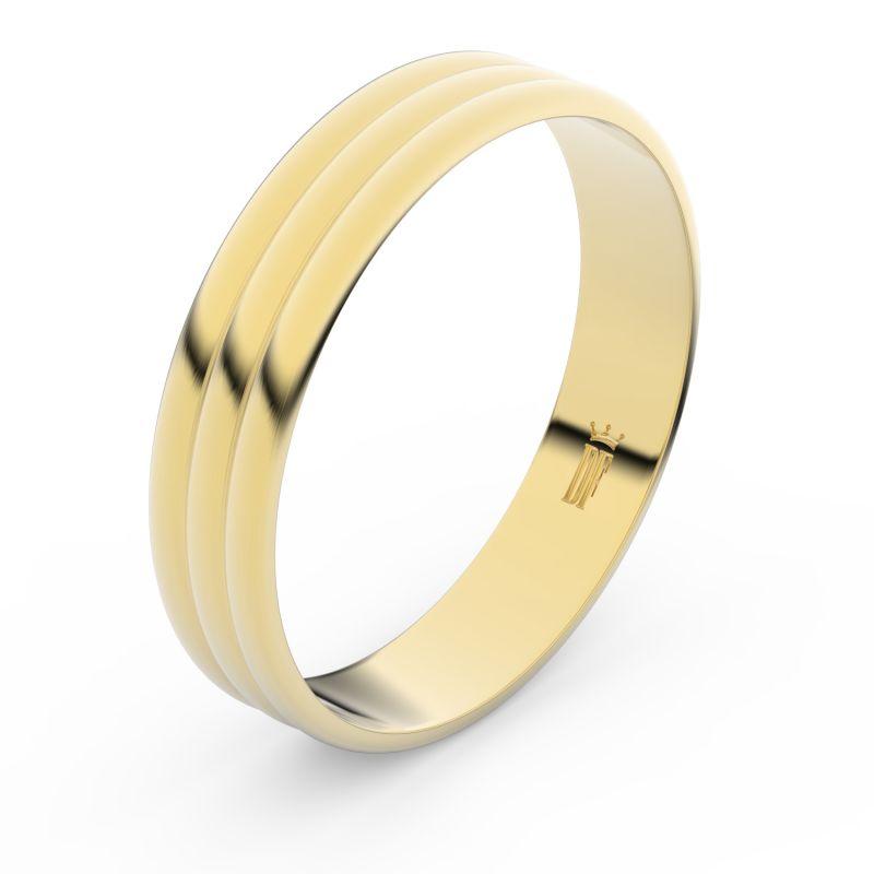 Zlatý snubní prsten Danfil FMR 4J47 ze žlutého zlata, bez kamene 46