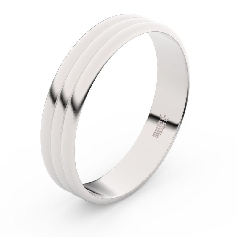 Zlatý snubní prsten Danfil FMR 4J47 z bílého zlata, bez kamene 46