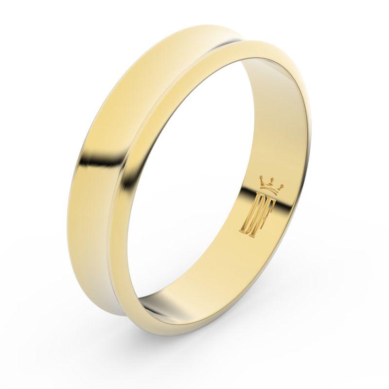 Zlatý snubní prsten Danfil FMR 5A50 ze žlutého zlata, bez kamene 46
