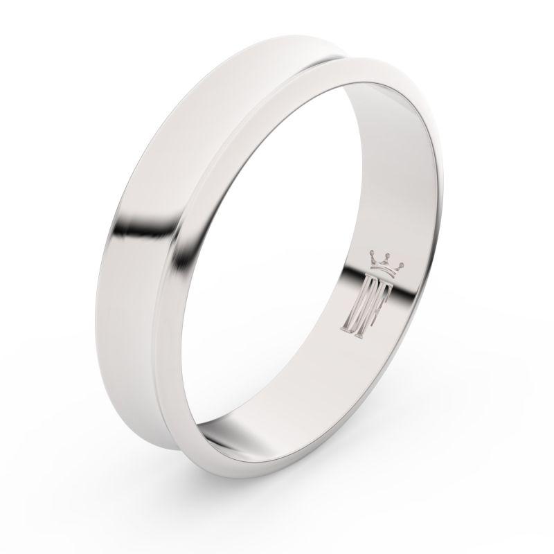 Zlatý snubní prsten Danfil FMR 5A50 z bílého zlata, bez kamene 46