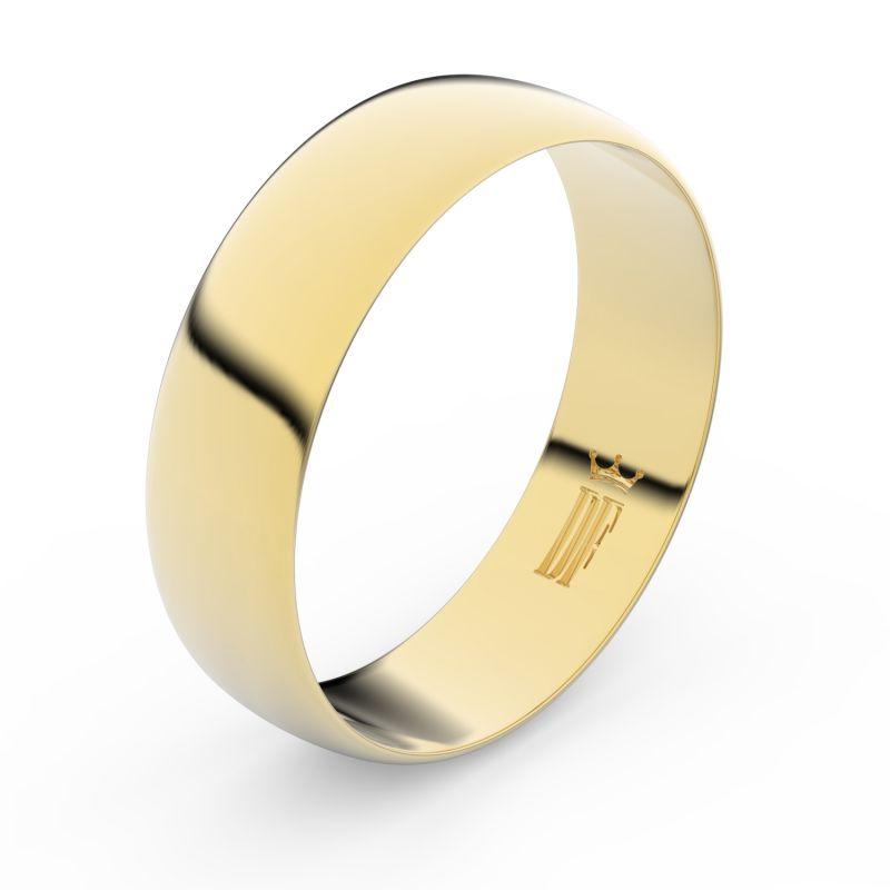 Zlatý snubní prsten Danfil FMR 9A60 ze žlutého zlata, bez kamene 46