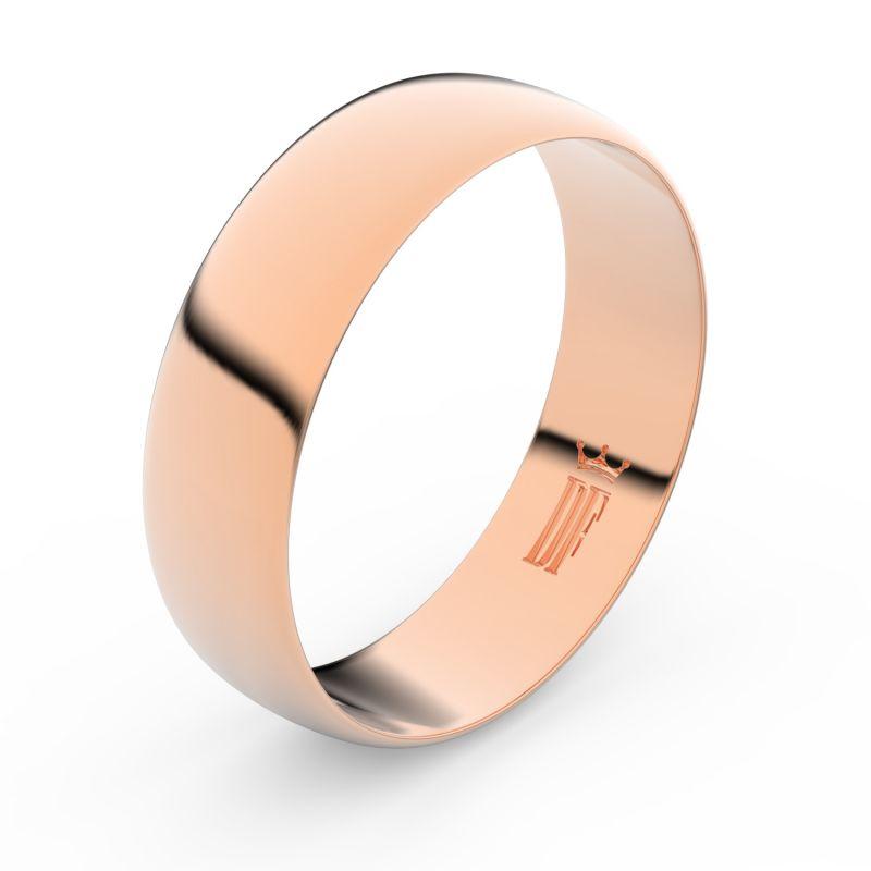 Zlatý snubní prsten Danfil FMR 9A60 z růžového zlata, bez kamene 46