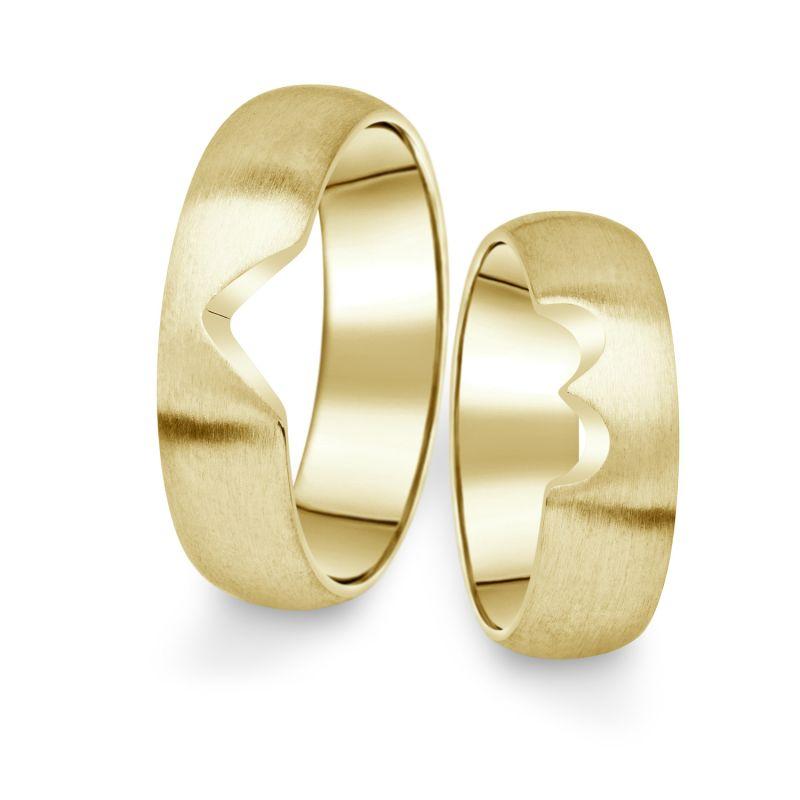 Snubní prsteny Danfil ze žlutého zlata, pár - 03
