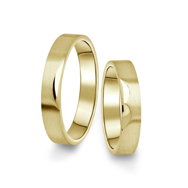 Snubní prsteny Danfil ze žlutého zlata, pár - 15